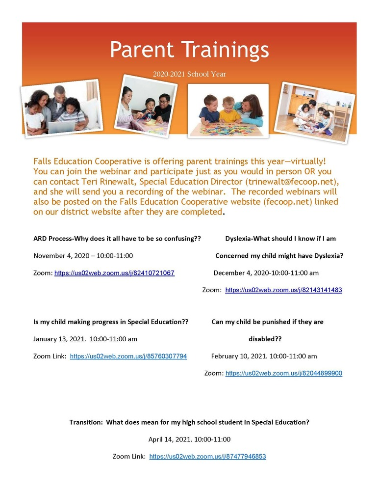 Parent Training Opportunities