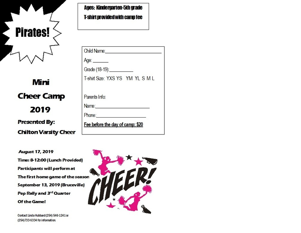 Mini Cheer Camp 2019