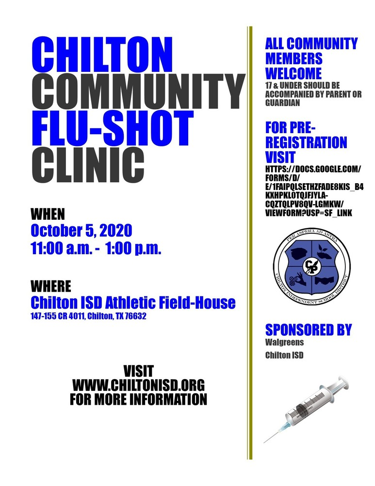 Chilton Community Flu Shot Clinic