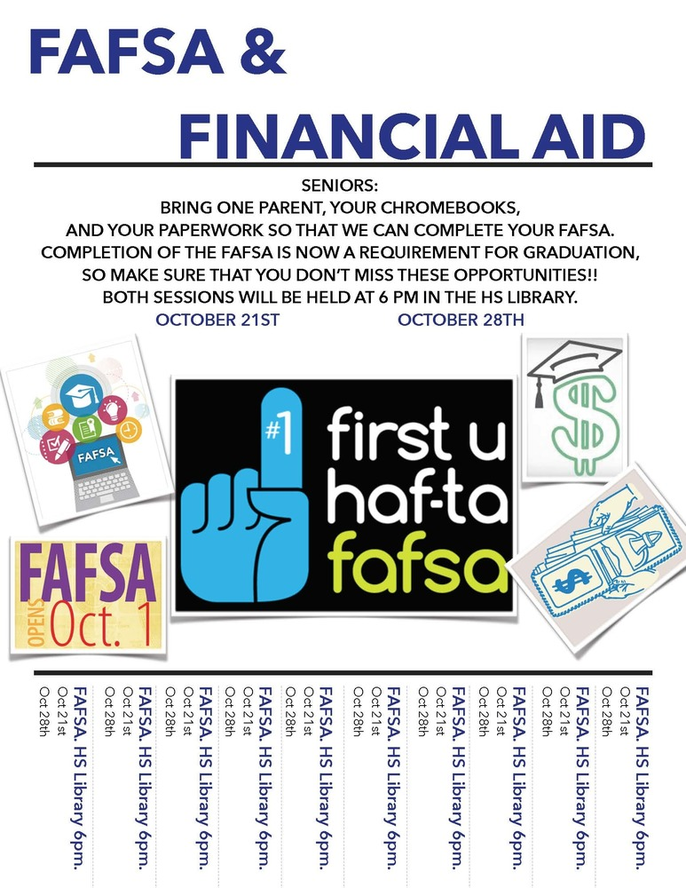 Senior News on FAFSA & Financial Aid