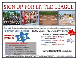 Little League Baseball Flyer