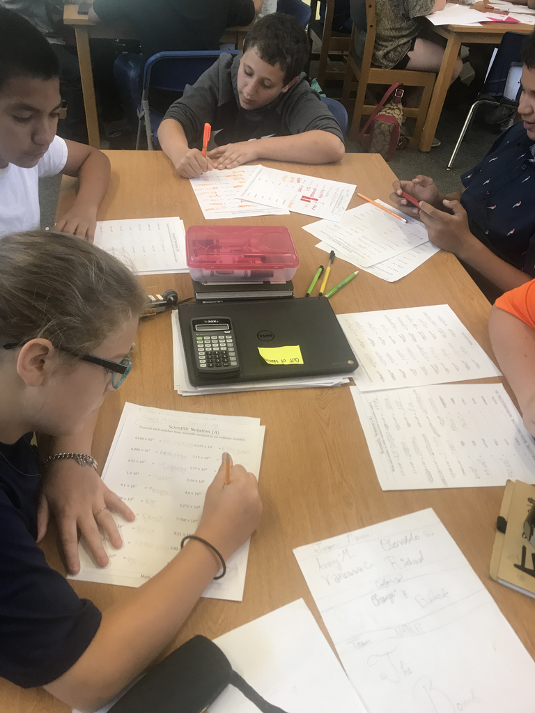 Students Practicing Scientific Notation