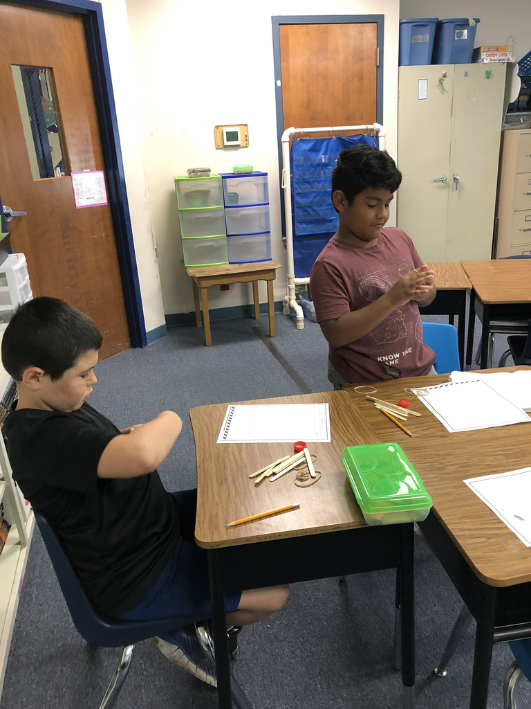 Students Designing Catapults