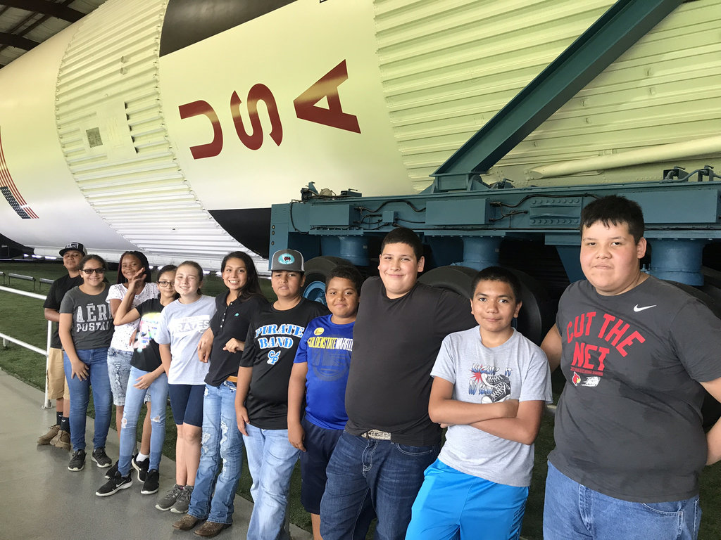 Students enjoying Rocket Park at NASA