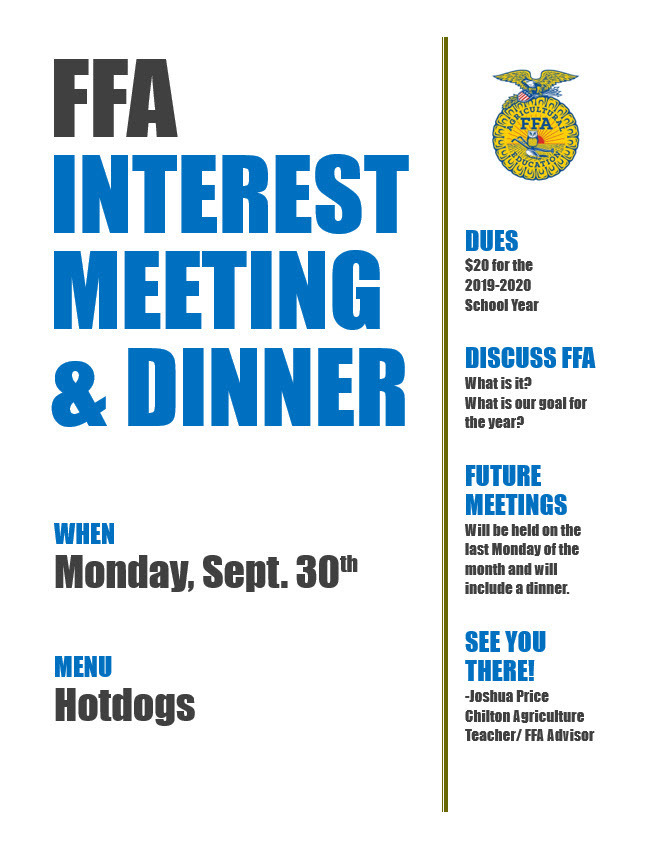 FFA Meeting Flyer