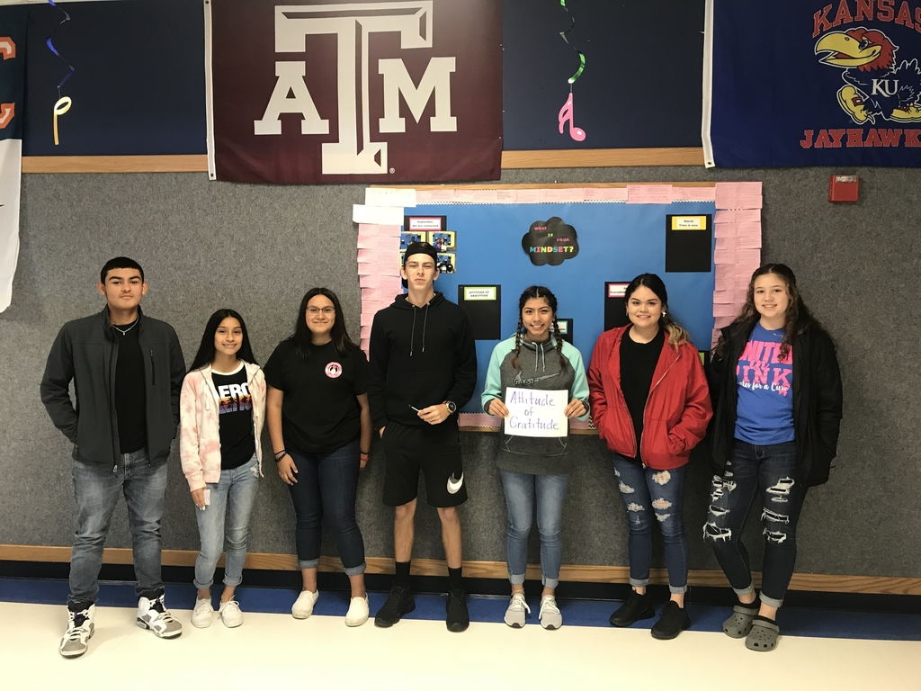 Attitude of Gratitude Students of the Month