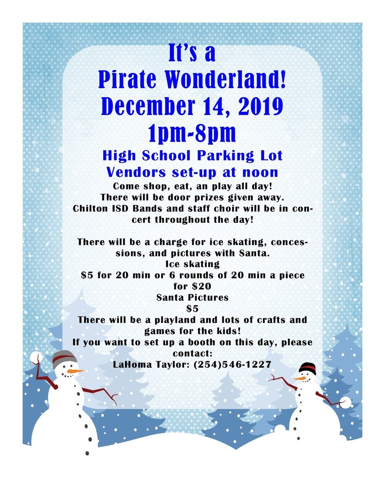 Pirate Wonderland Informational Flyer